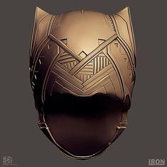 ArtStation - Black Panther Civil War - Helmet Clay Render, Rafael Mustaine