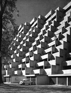 Split-level House in Wuppertal, Germany, by Atelier 40, 1966.