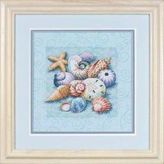 Shells on Blue - Cross Stitch Kit