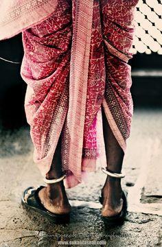 ankle bangles #sari wrap