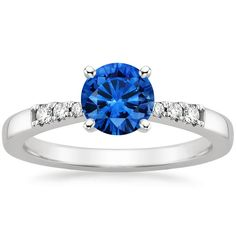 18K White Gold Sapphire Dolce Diamond Ring from Brilliant Earth