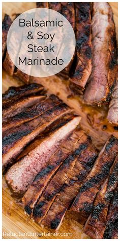 Balsamic Soy Steak Marinade Steak Marinade For Grilling, Flank Steak Tacos, Fish Marinade, Balsamic Marinade, Steak In Oven, Grilling Recipes, Fish Recipes, Beef Recipes, Vegetarian Recipes