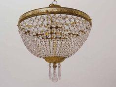 Kristall Deckenleuchte Leuchte mit einer Messing Montur (3984) de.picclick.com