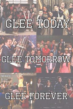 Glee has been my life since season 1.  I can't just forget it now.