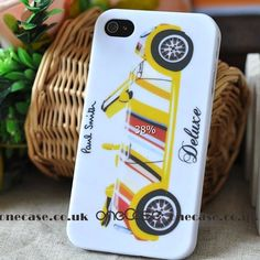 Paul Smith case for iphone 4S 4 Yellow Car