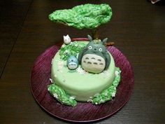 Cake based on the movie 'My Neighbour Totoro'