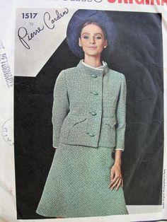60s Mod PIERRE CARDIN Suit Pattern Vogue Paris by SoVintageOnEtsy