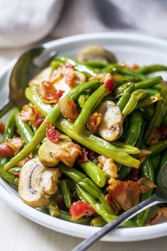 These country style green beans make an awesome addition to any holiday table or weekend feast.