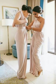 Bridesmaid dresses similar to this but in pale pink or blush