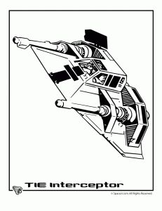 star wars tie interceptor 231x300 star wars ships coloring pages