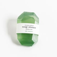 Consisting of all natural, vegetable-based soap ingredients, these Soap Stones are made and hand cut by PELLE in Brooklyn. These soaps make an elegant gift for the person who has everything—and are, l Slytherin House, Slytherin Pride, Hogwarts Houses, Le Jade, Objet Deco Design, Green Soap, Photo Deco, Kairo, Soap Packaging