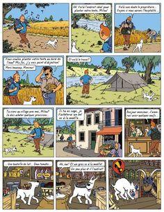 Planche 1 du Lac de la sorcière, par Rodier. copyright Moulinsart car le personnage appartient à Hergé.