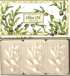 Olive Oil Soap Set from Italy 3 Bars Florence No Animal Testing New in Package
