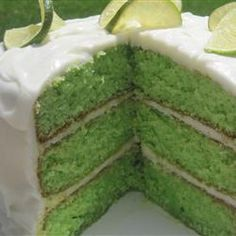 This cake is easy and delicious.  Perfect for St. Patrick's, Cinco de Mayo, spring or any other occasion that embraces green!