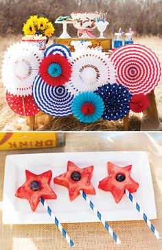Watermelon stars for a 4th of July picnic!