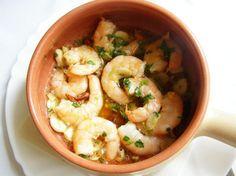 Creveți cu usturoi Shrimp, Seafood, Meat, Aioli, Sea Food, Seafood Dishes