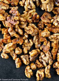 The maple and spice combination in this recipe can be used on raw pecans, almonds or cashews.