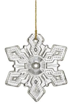 $19.99-$28.46 Marquis by Waterford ® Annual Snowflake, Limited Editions, Christmas Ornament - The 2010 Annual Snowflake Ornament is a classic design capturing the  true essence of a snowflake.  The 2010 ornament comes with a gold cord. http://www.amazon.com/dp/B003YI9CYU/?tag=pin2wine-20