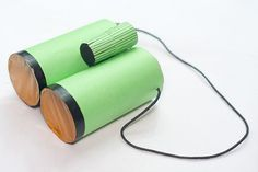 How to Make Binoculars from Toilet Roll Tubes. What better for the little birdwatcher or spy in your life than a pair of play binoculars? Paper Towel Tubes, Toilet Paper Roll Crafts, Binoculars For Kids, Crafts For Kids, Diy Crafts, Recycled Crafts, Childrens Christmas, Water Balloons, Collaborative Art