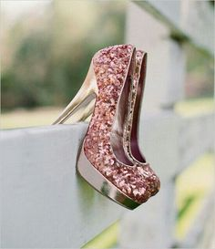 Super cute sparkly pink heels