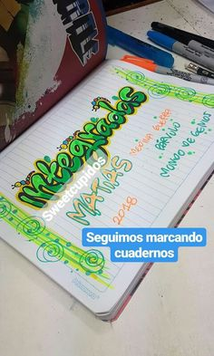 School Notes, Letters And Numbers, Notebook, Bullet Journal, Lettering, Drawings, Decorated Notebooks, Cute Notebooks, School Grades