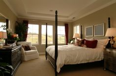 Master Bedroom Decorating Ideas: I wish I could arrange our bedroom this way.