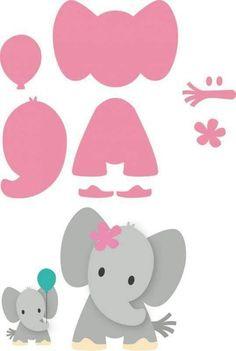 Risultati immagini per elefante marianne design Quilt Baby, Felt Patterns, Applique Patterns, Applique Templates, Elephant Template, Elephant Stencil, Elephant Applique, Elephant Pattern, Felt Crafts