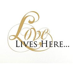Vinyl Attraction 'Love Lives Here' Vinyl Wall Decal - Overstock™ Shopping - The Best Prices on INSTEN Vinyl Wall Art