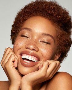 Jamillah McWhorter by Akin Andwele Black Girls With Freckles, Black Freckles, Freckles Makeup, Freckles Girl, Curly Hair Styles, Natural Hair Styles, Natural Beauty, Pretty Black Girls, Big Lips