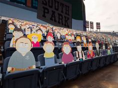 1,800 South Park Cut-Outs Spread Across Five Sections at Broncos Game During the COVID-19 Pandemic Denver Broncos Game, Go Broncos, South Park Characters, Comedy Central, Charity, Cut Outs, Games, Gaming, Plays