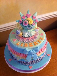 Moshi Monster Liberty Cake Girls 3rd Birthday, 3rd Birthday Parties, Birthday Fun, Birthday Cake, Monster Rocks, Moshi Monsters, Monster Party, Love Craft, Childhood Toys
