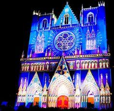 Lyon - fete de lumieres -- Real life Cinderella's Castle