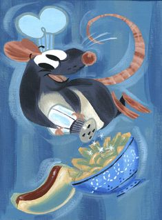 Ratatouille by Tiny Kitten Teeth / Pocketowl Disney Concept Art, Disney Fan Art, Disney Love, Disney Pixar, Disney Stuff, Ratatouille Disney, Ratatouille 2007, Wall E, Disney Movies To Watch