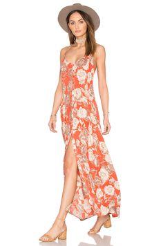 AMUSE SOCIETY Venetta Dress in Burnt Sienna
