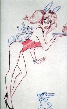 Dean Yagle MANDY commission 2010 Playboy Bunny Comic Art