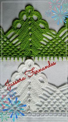 Flor de eva e crochê Crochet Edging Patterns, Crochet Lace Edging, Crochet Motifs, Crochet Borders, Thread Crochet, Crochet Doilies, Crochet Flowers, Crochet Baby, Knitting Patterns