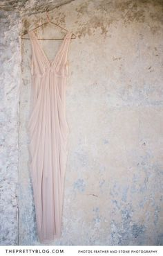 A gorgeous soft, pink dress! | Photographer: Feather and Stone | Rose pink dress : Stylist's own