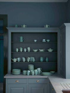 monochrome kitchen palette