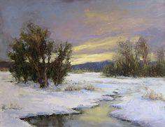 Frozen Creek by Jane Hunt Oil ~ 16 x 20