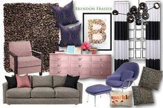 Confetti Inspired Living Room Idea Board by Brendon Frasier