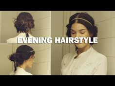 Evening Hairstyle (with subs) - Linda Hallberg Makeup Tutorials - YouTube