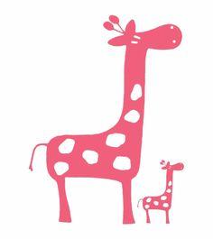 Glenna Jean Pink Giraffe Wall Decals - Set of 2