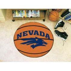 "Nevada Wolfpack Basketball Rug 29"" diameter"