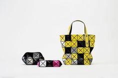 BAO BAO ISSEY MIYAKE BILBAO MOSAIC Yellow Tote bag JAPAN