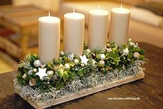 Christmas candle centerpiece # Christmas decoration # central room You are in the right place about christmas holidays Here we offer you … Christmas Candle Centerpieces, Christmas Candles, Christmas Crafts, Christmas Decorations, Christmas Ornaments, Floral Centerpieces, Table Decorations, Diy Christmas Home Decor, Table Centerpieces