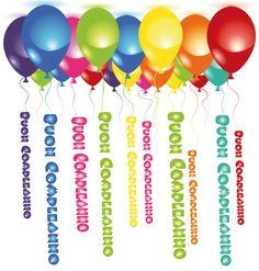IMMAGINI GIF ANIMATE SCRITTE BUON COMPLEANNO - Le gif di Marina Page Borders Design, Border Design, Birthday Wishes, Happy Birthday, Emoticon, Balloons, Birthdays, Clip Art, Cards