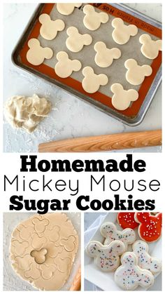 Mickey Mouse Sugar Cookie Recipe Any Disney fan will go completely nuts for these Mickey Mouse Sugar Cookies. This fail-proof sugar cookie recipe is insanely delicious! Theme Mickey, Mickey Party, Mickey Mouse Birthday, 2nd Birthday, Mickey Mouse Parties, Birthday Ideas, Elmo Party, Dinosaur Party, Dinosaur Birthday