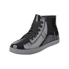 Comprar Ofertas de LvRao Mujeres y Hombres Calzado Impermeable Zapatos de ·  Cordones NegrosComprar ZapatosImpermeableLluviaGomitasCalzado e3c722845523