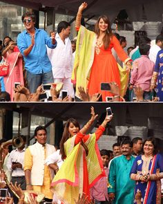 Bipasha Basu flaunts her dance moves, as she came forward to celebrate dahi-handi, looking beautiful in her traditional attire on the streets of Mumbai.