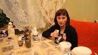 Декупаж.  Имитация коры и корней деревьев.  Юлия Николаева — Яндекс.Видео
